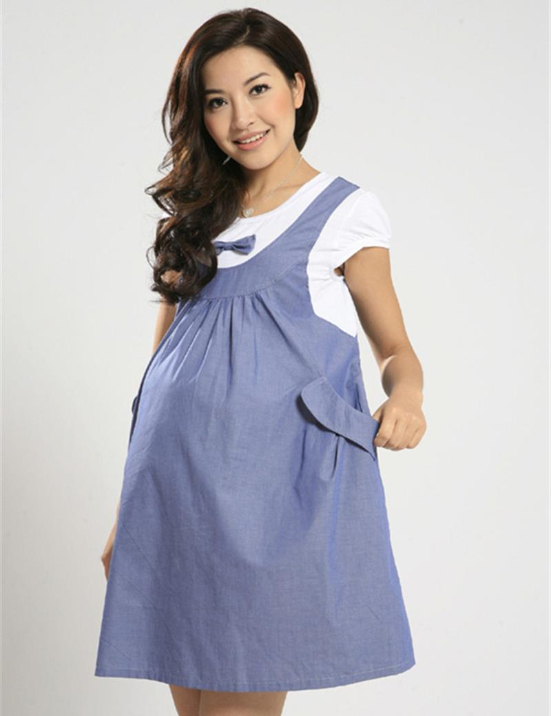 Aliexpress buy 2015 new summer maternity dress maternity one aliexpress buy 2015 new summer maternity dress maternity one piece casual dress pregnancy denim clothing bow clothes for pregnant women from reliable ombrellifo Image collections