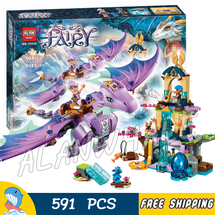 591pcs Elves The Dragon Sanctuary Cherry Tree Princess Elf 10549 Figure Building Blocks Fairy Toys Compatible with LagoING image