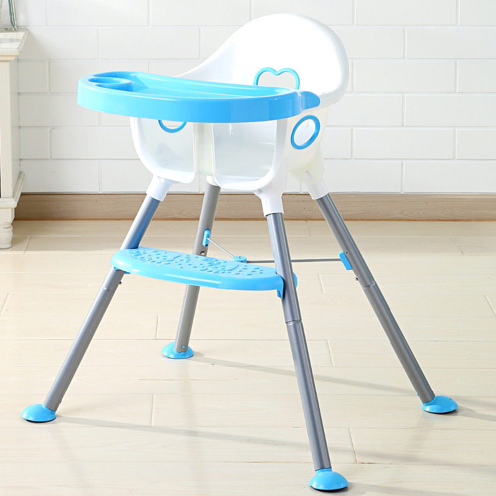 Plastic child high chair for eating