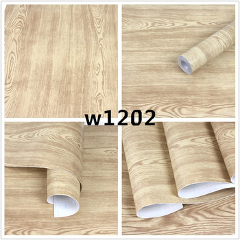 Kitchen Chinese style stereo wood grain wallpaper Vinyl Nature Brown Grey Brick Wall Paper Roll Bedroom Walls Covering