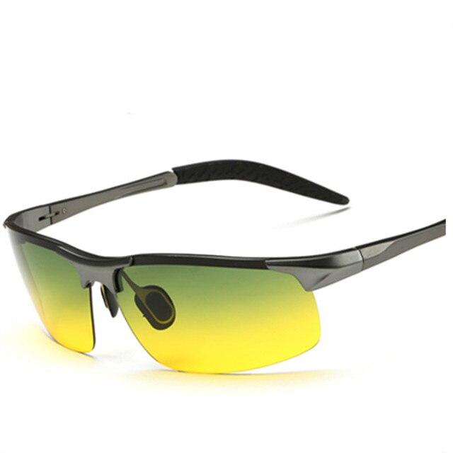 Ночного видения водителя очки магнийалюминиевый мужчины поляризованных проезда очки антибликовые роскошные известный автомобиль солнцезащитные очки-мужчин