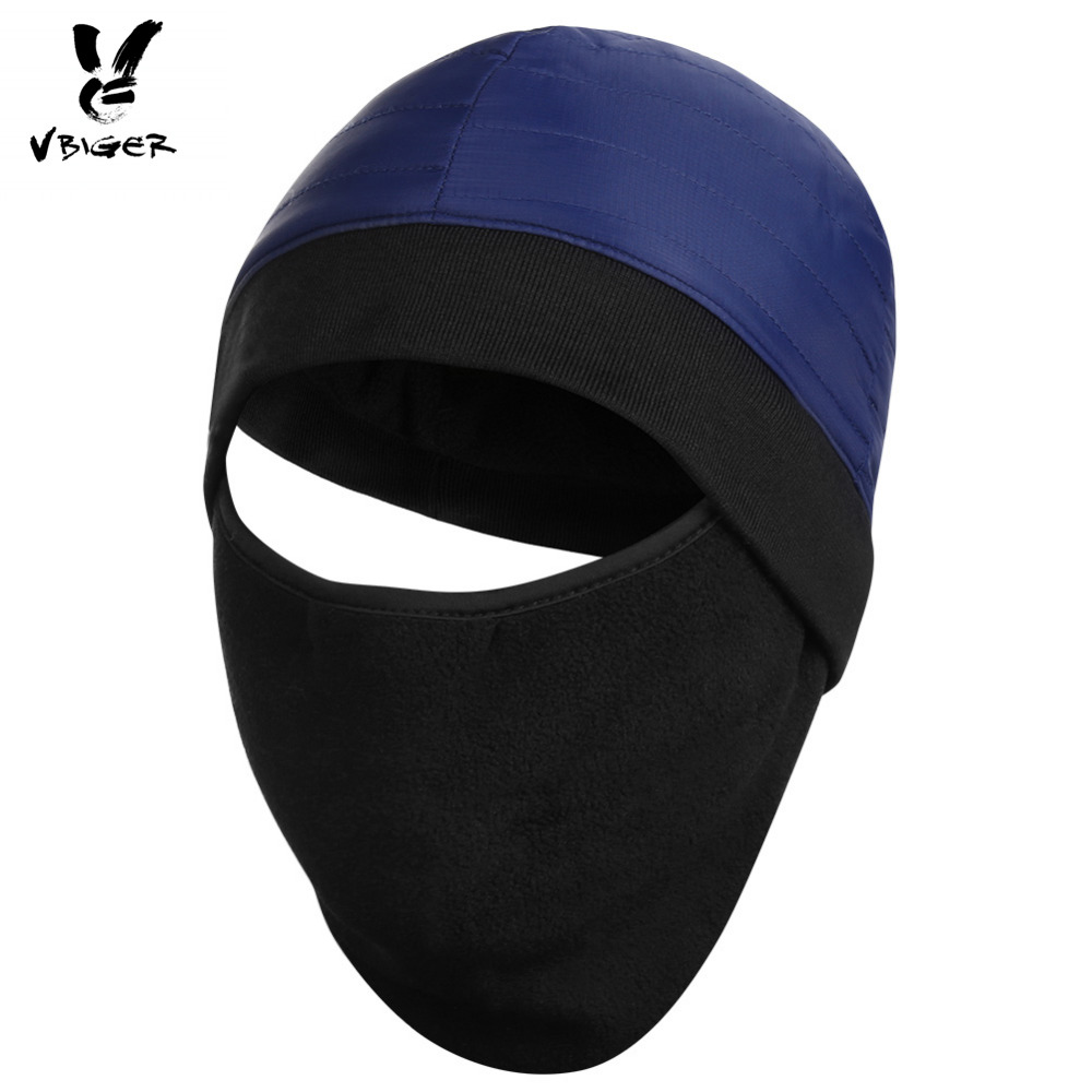 Vbiger Men Women Skullies Beanies Warm Winter Hat Balaclava Windproof Outdoor Ski Mask Beanie Cap with Windproof Fleece Mask skullies