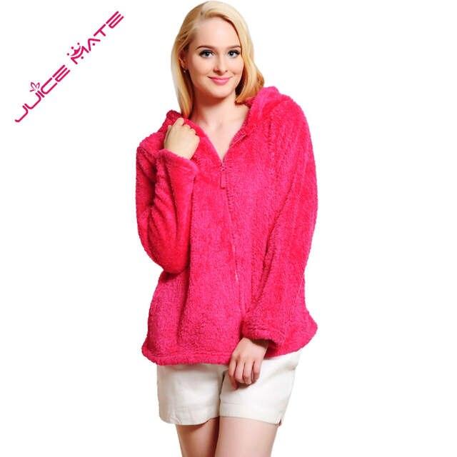 fdf1fe299ce placeholder Women Girls Plus Size Snuggle Fleece Blouse Zip Fluffy Warm  Hooded Sweatshirt Hoodie Ladies Loose Sweatshirt