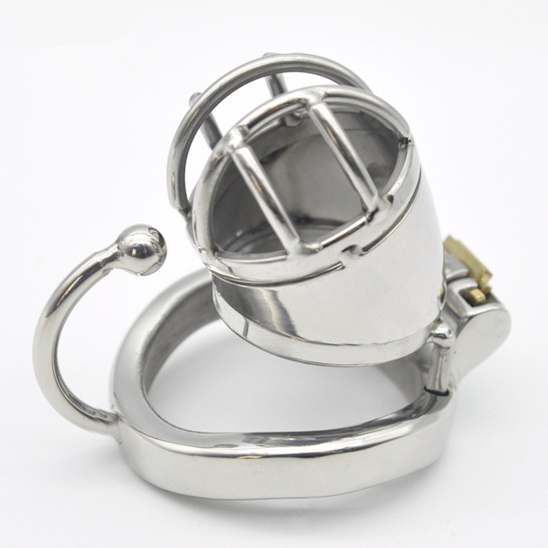New 304 Stainless Steel Male Chastity Devices,Cock Cage With Base Arc Ring,Penis Rings,Penis Lock,Adult Games Sex Toys For Men