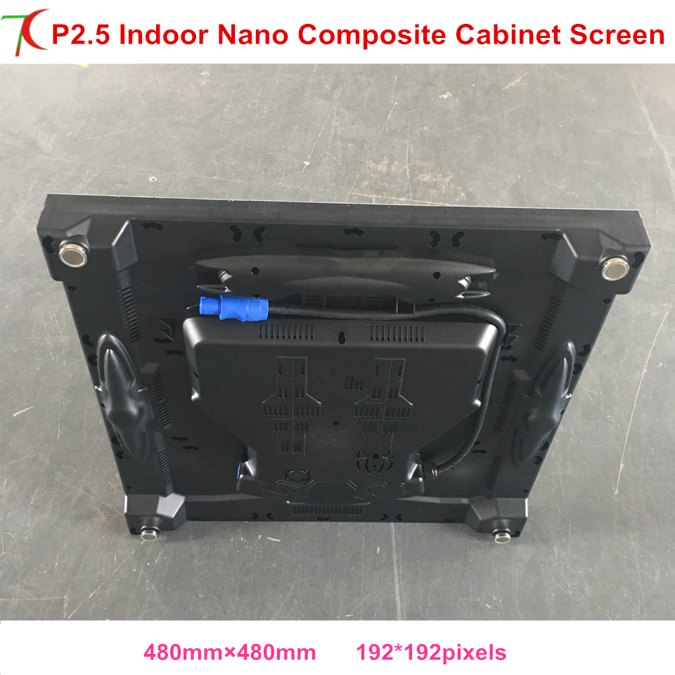 3.8kg Weight P2.5 Nano Composite Cabinet Screen Use For Rental  Or Fix Installation Led Display,