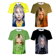 2019 New Fashion 3D Billie Eilish T shirts women Men Summer  Print World Tour Sleeves Cotton Shirt
