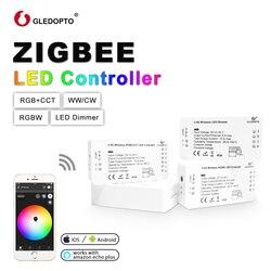GLEDOPTO DC12-24V RGB + CCT Zigbee HA CONDOTTO il Regolatore, regolatore Zigbee, home automation di lavoro con Echo più, eco spettacolo, cose intelligenti