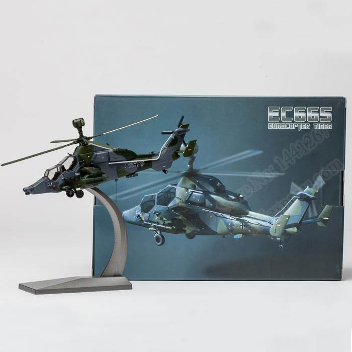 1:72 Europe Tiger Helicopter Model Alloy Aircraft Model Assembly Finished High Grade Gift Collection rare gemini jets 1 72 cessna 172 n53417 sporty s flight school alloy aircraft model collection model