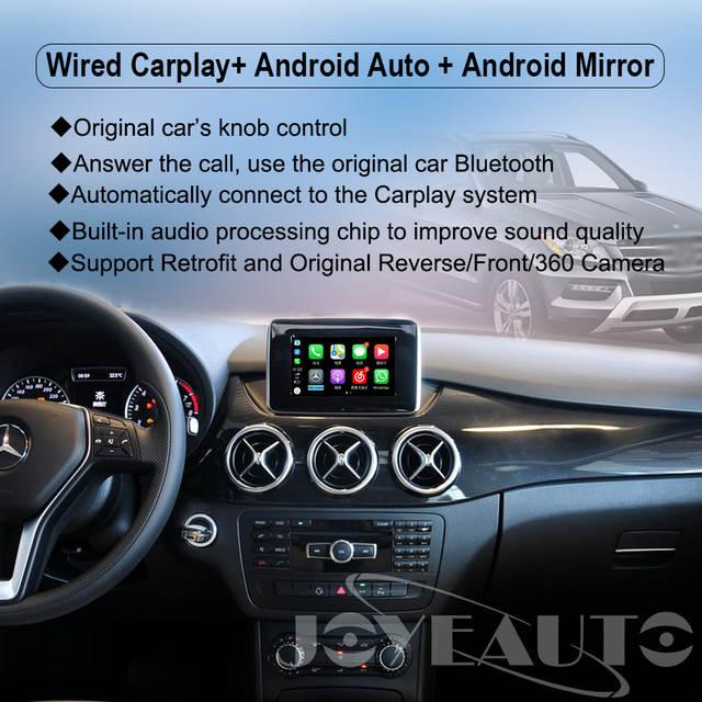 US $379 89 19% OFF|Joyeauto Wifi Wireless Carplay Car Play Android Auto  Mirror Retrofit for 2011 2014 Mercedes B class W246 NTG4 5/4 7 Rear  Camera-in