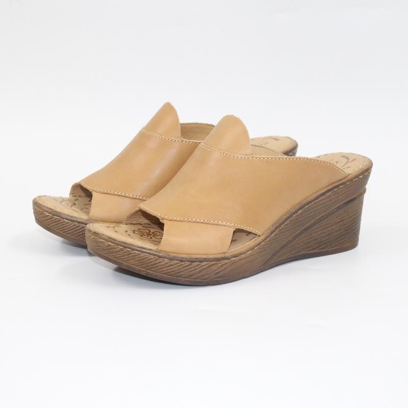 Pantoufles en cuir confortables pantoufles femmes classiques pantoufles sabots chaussures pour femmes