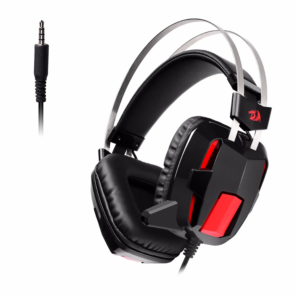 Redragon H201-1 3.5mm Surround Sound Stereo Gaming Headphone Headset Gamer Earphone Overear PC Laptop