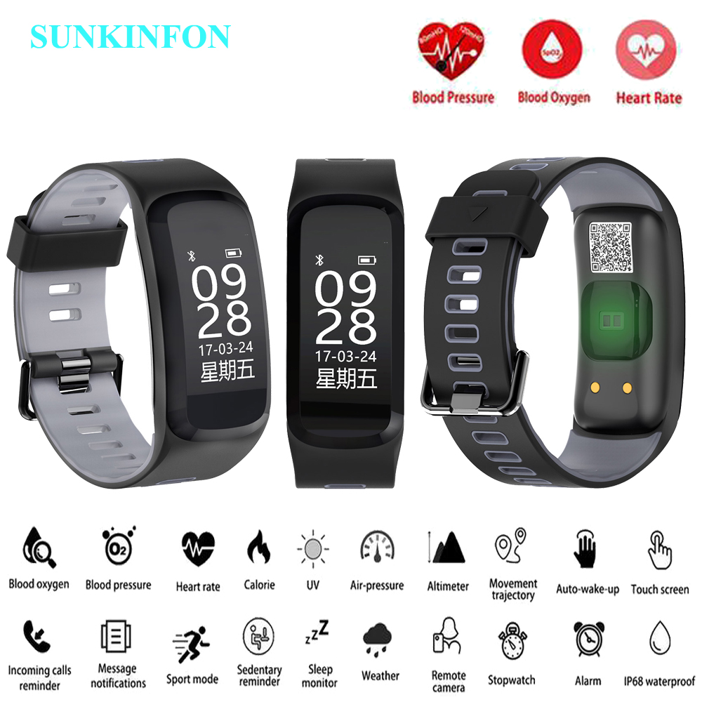 F7 Smart Watch Bracelet Blood Pressure Blood Oxygen Heart Rate Monitor Fitness Tracker Smart Wristband for IOS Android Mi Band 2