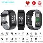 F7 pulsera reloj inteligente presión sangre oxígeno Monitor de ritmo cardíaco rastreador de ejercicios inteligente pulsera para IOS Android Mi banda 2 - 1