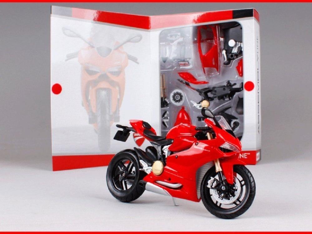 Maisto 1:12 Ducati 1199 PANIGALE Assembly DIY Motorcycle Bike Model New In Box when tamiya model motorcycle ducati ducati 1199 1 12 panigle s 14129 model buiding kits