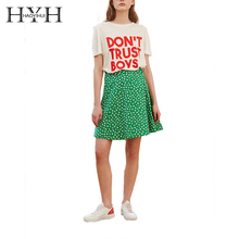 HYH HAOYIHUI Women Street Saucy DONT TRUST BOYS Letter Print Basic T Shirt O Neck Short Sleeve Loose Summer Female Tee