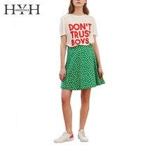 купить HYH HAOYIHUI Women Street Saucy DON'T TRUST BOYS Letter Print Basic T Shirt O Neck Short Sleeve Loose Summer Female Tee по цене 398.6 рублей