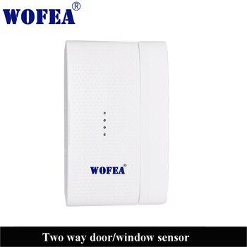 Sensor de ventana de puerta de dos vías inalámbrico dos señales de diferencia para el detector magnético abierto y cerrado 433mh 1527 3V de potencia