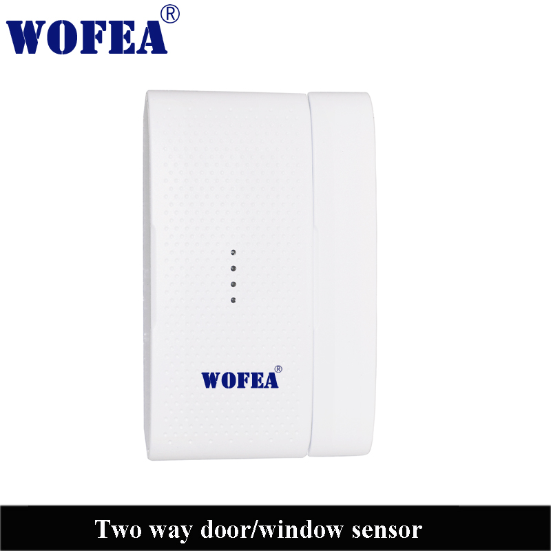 Wireless Two Way Door Window Sensor Two Difference Signal For Open And Closed Magnetic Detector 433mh 1527 3V Power