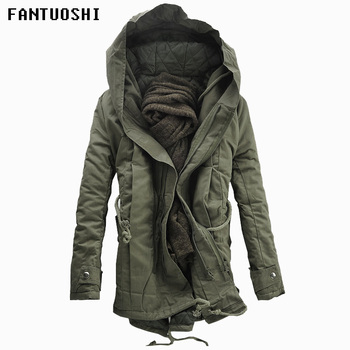 2020 New Men Padded Parka Cotton Coat Winter Hooded Jacket Mens Fashion large size Coat Thick Warm Parkas Black army green 5XL new winter men s cotton linen padded thickened jacket china style male jeans coat mens fashion casual warm denim parkas jacket