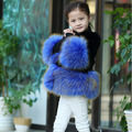 Freezing Winter Children Faux Fur Coats Princess Fake Mink Fur Girls Winter Fur Parkas Thicken Baby Fur Coats