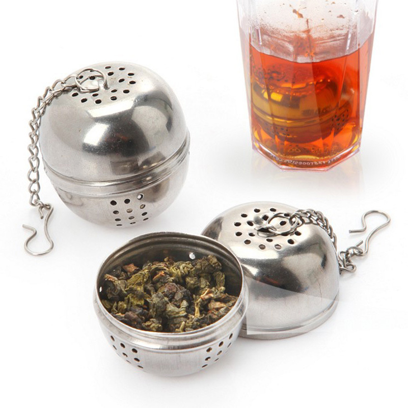 New Essential Stainless Steel Ball Tea Infuser Mesh Filter Strainer High Quality Tea Leaf Spice Home Kitchen Tools Accessories