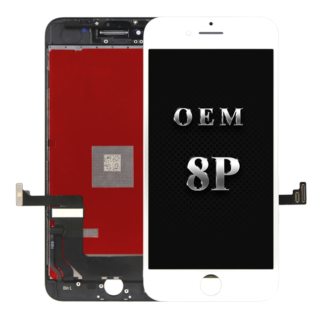 finest selection 64dfc bf222 5PC Original OEM quality For iphone 8 plus LCD with Touch Screen Display  Assembly Replacement 100% work free shipping