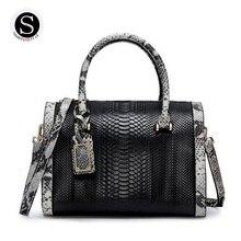 Genuine Leather Bag Alligator Luxury Handbags Women Bags Designer Snake Famous Brand Women Handbags 2017 Women
