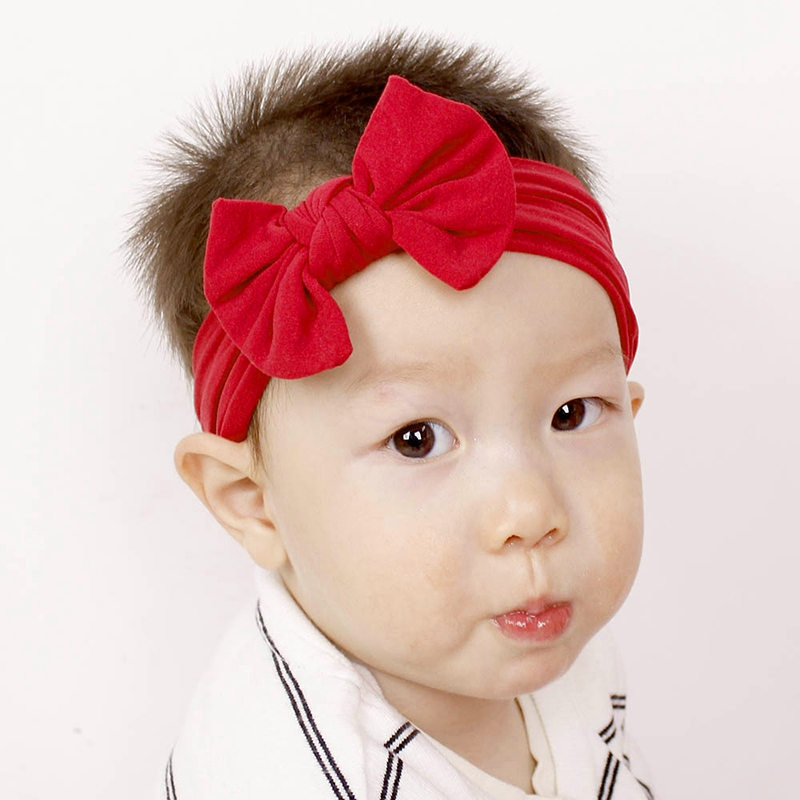 Toddler Headwear Kids Headbands Bow for Girl Hairbands Turban Knot Baby Headbands Kids Turbans Accessoire for Baby Girls Boys