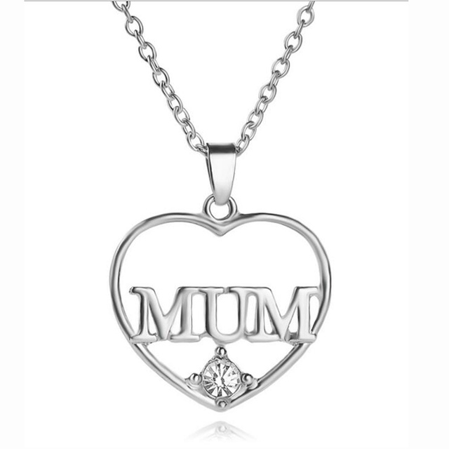New style gold and silver crystal heart shape mom mum necklaces new style gold and silver crystal heart shape mom mum necklaces pendants for women necklace aloadofball Image collections