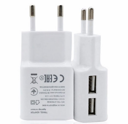 White USB Fast Charger 5V Universal Portable Travel Charger Adapter Rapid Mobile Phone Charger With Over-charge Protection