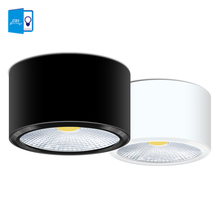 hot deal buy [dbf]surface mounted led downlights 3w 5w 7w 12w led ceiling down lamp kitchen bathroom dimmable led cob downlights lamp