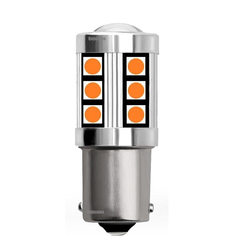 Luces LED traseras de freno para coche, intermitentes, bombillas DRL, rojo, blanco y ámbar, BA15S, P21W, 2019, R10W, 1156, 1 ud., novedad de 7506