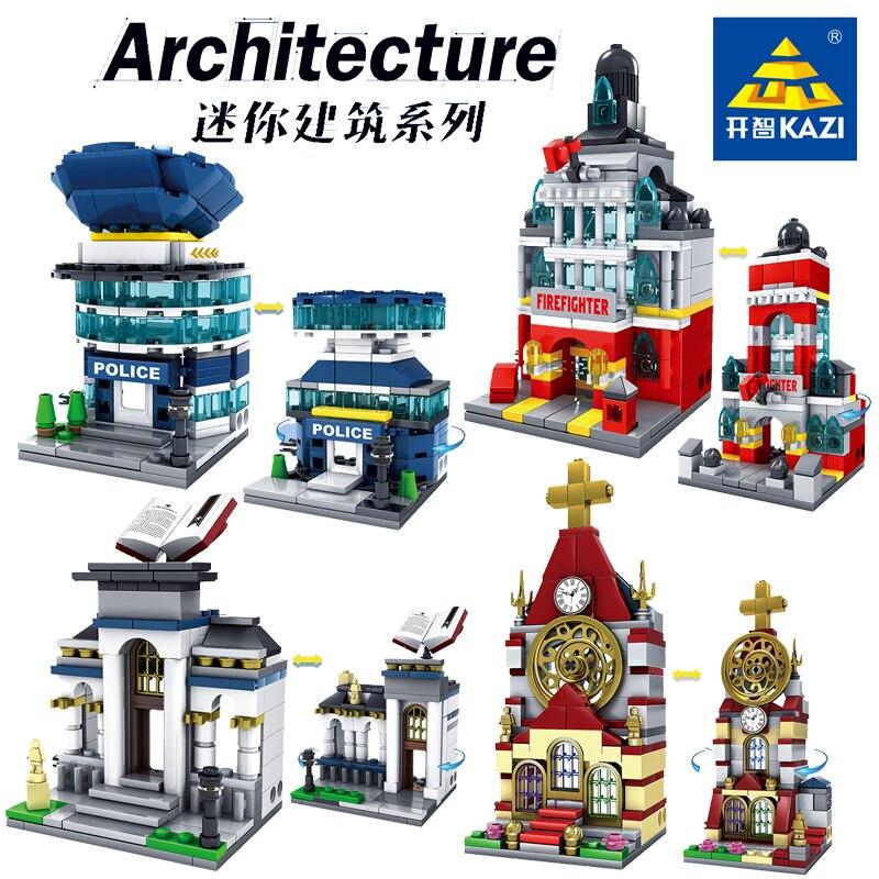Architektur Mini Street View Bausteine Shop Shop Haus Modell DIY Mini Ziegel Abbildung Spaß legoinglys Spielzeug für kinder geschenk