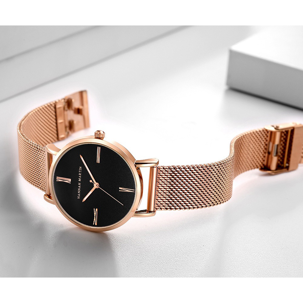 Luxury Ultra Thin Watch Women Fashion Brand Rose Gold Ladies Wrist Watches Minimalist Mesh Steel Clock Female Relogio Feminino