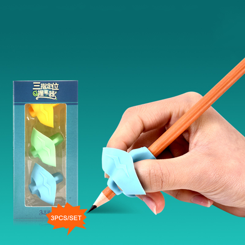 Beginner Writing Silicone Toy Children Hold Pen Set Baby Double Thumb Posture Correction Pen Tool Student Education 3pcs/box