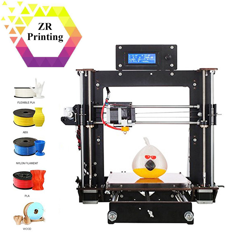 ZRPrinting 3D Printer Reprap Prusa Impresora MK8 i3 DIY Kit MK2A Heater Plate 3D Drucker 1.75mm ABS/PLA Filament new 26pcs abs printed parts kit for reprap prusa i3 rework black pla 3d printer diy durable quality