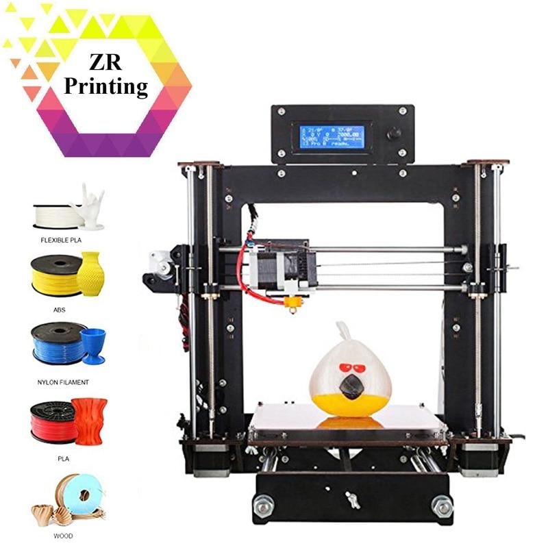 ZRPrinting 3D-принтеры Reprap Prusa Impresora MK8 i3 DIY Kit MK2A нагреватель 3d Друкер 1,75 мм ABS/PLA нити