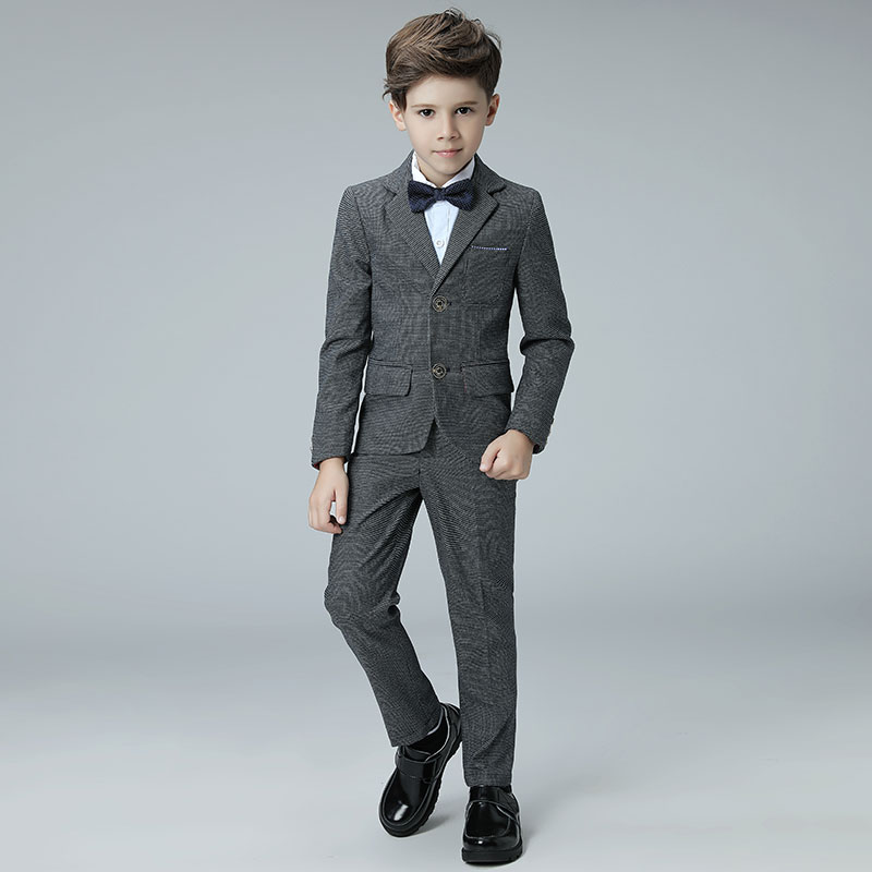 2018 spring boys formal suits school kids plaid suit england style ...