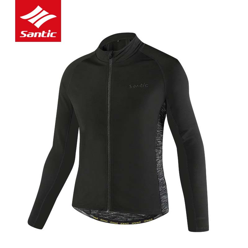 Santic Cycling Jacket Men Autumn Winter Thermal Windproof Bike Clothes Keep Warm MTB Road Bicycle Jersey Downhill Coat Ciclismo 2017 autumn cycling jacket sets waterproof windproof long sleeve bike riding coat jersey suits men women bicycle clothing warm