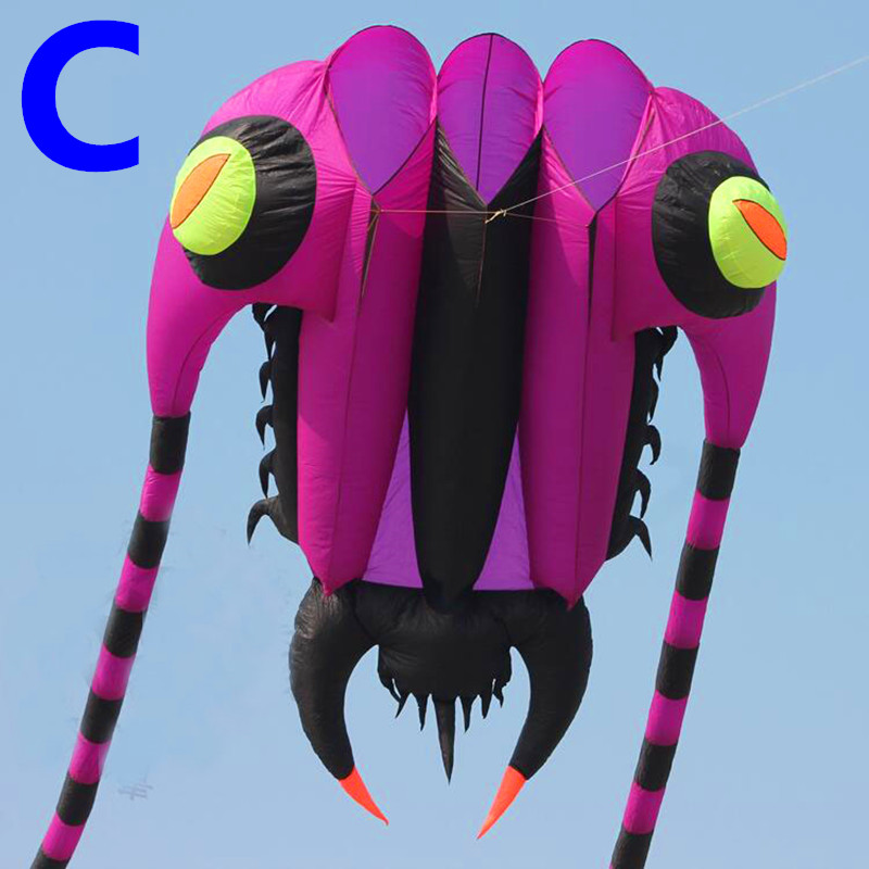 free shipping new design 7sq.m trilobite soft kite sport ripstop nylon fabric kite 3d squid toy kaixuan kite wheel easy to fly