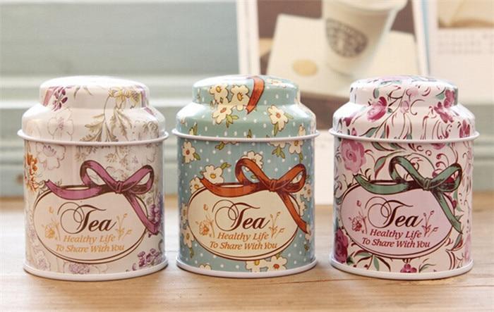 Express Free Shipping 50pcs/lot Small tin tea caddy tea tin box candy box