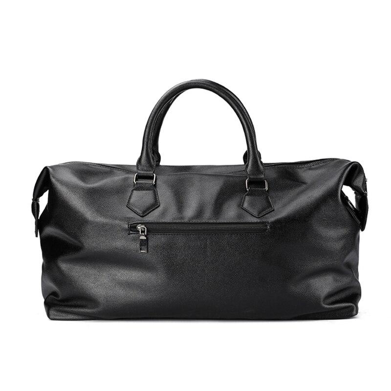 PU cuir souple Fitness sacs de Sport pour hommes Rivet Design formation sac à bandoulière Sport sac à main sac de voyage avec motif XA626WD - 2