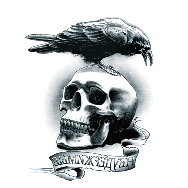 the expendables logo temporary tattoo sticker charm body art death squads design eagle skull. Black Bedroom Furniture Sets. Home Design Ideas