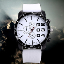 Men's Fashion Watches 3 Colors Hot Sale High Quality Watch Analog New Design Silicone Luxury Round Dial Watches Watch Men reloj