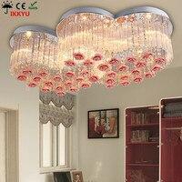 Modern Simple Led Living Room Chandelier Bedroom Warm Romantic Wedding Room Crystal Lamp Room Atmosphere Living