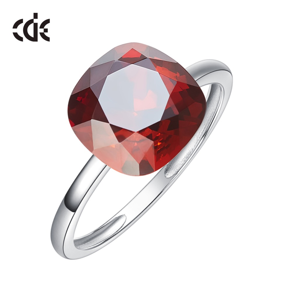 CDE 925 Sterling Silver Rings For Women Embellished with crystals from Swarovski Wedding Geometric Rings Silver Jewelry Ringen crystal