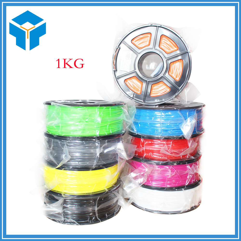 3D Printer Filament PLA or ABS 1.75mm 1KG plastic Rubber Consumables Material 3d printer 1 75mm abs filament black 150g