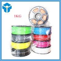 3d-printer Filament PLA of ABS 1.75mm 1 KG plastic Rubber Verbruiksartikelen Materiaal