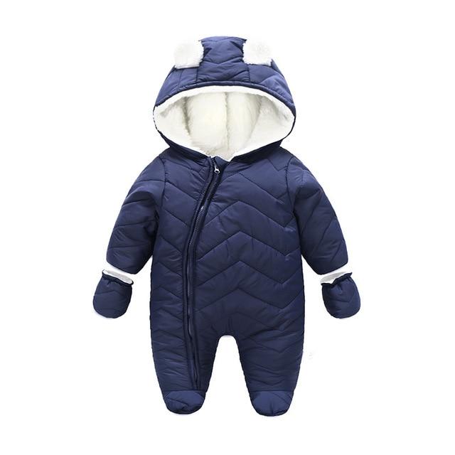 c76bafb7cf15 Winter Girls Dress Baby Snowsuit Soft Fleece Long Sleeve clothing ...