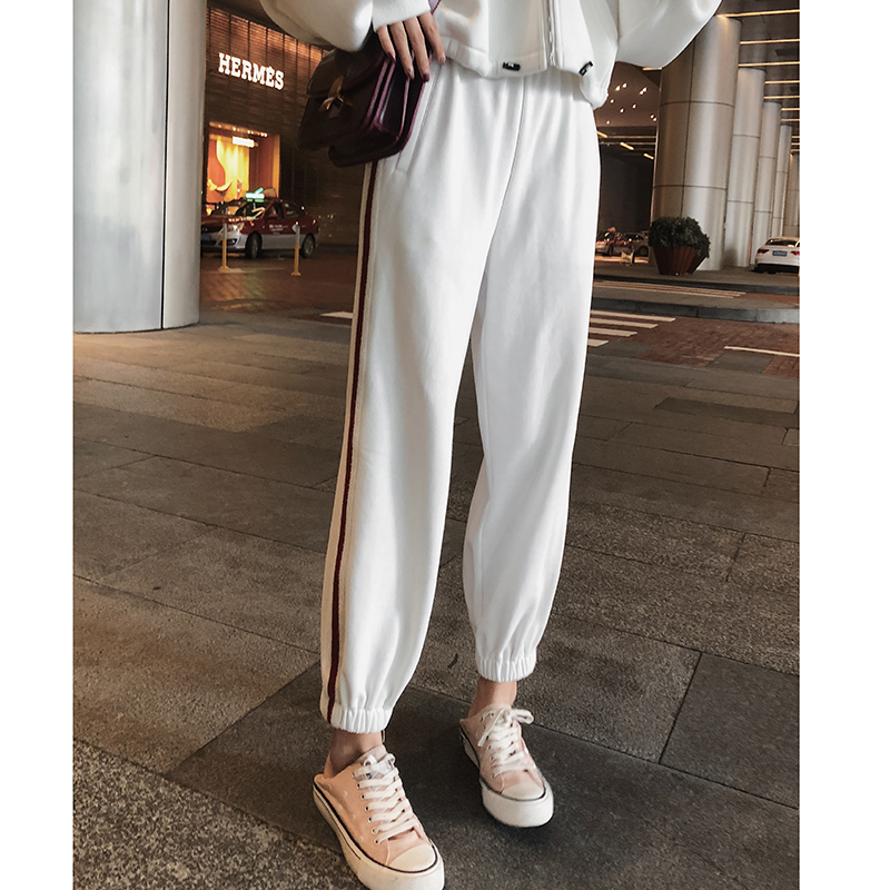 Mishow Casual Solid Pants Female 2018 Autumn Outfit Mid Waist Korean Loose Trousers New Wind Harem Pants MX18D2553